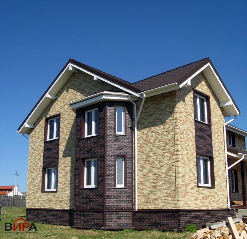 фото отделанных домов цокольным сайдингом